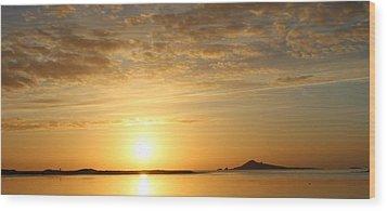 Irelands Eye At Dawn Wood Print