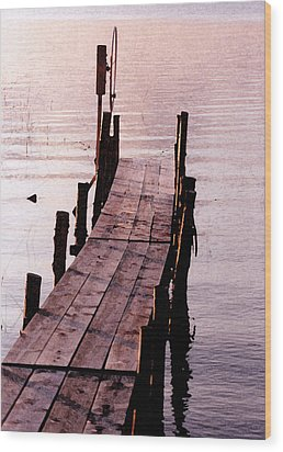 Wood Print featuring the photograph Irene's Dock by Susan Crossman Buscho