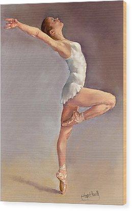 Irina Wood Print by Margaret Merry