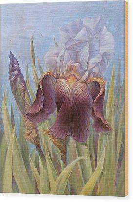 Iris 1 Wood Print
