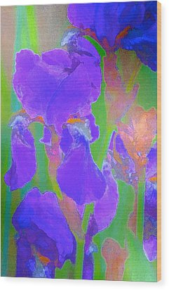 Iris 59 Wood Print by Pamela Cooper