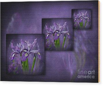 Iris Art Wood Print by Shirley Mangini