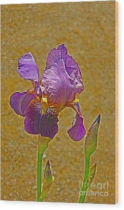 Iris Flower Wood Print by Nur Roy