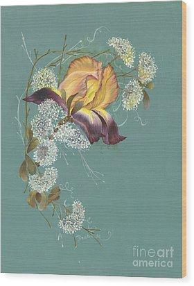 Iris Garland Wood Print