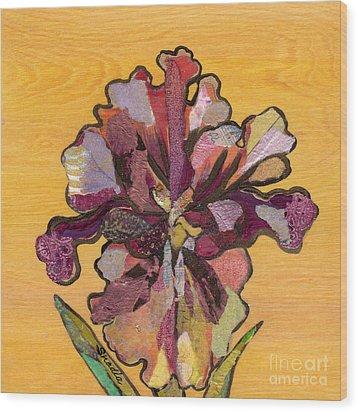 Iris I Series II Wood Print by Shadia Derbyshire
