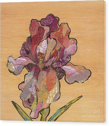 Iris II - Series II Wood Print by Shadia Derbyshire