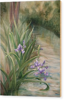 Iris Over The Inlet Wood Print