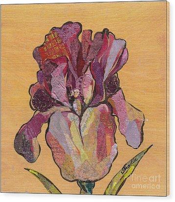 Iris V  - Series V Wood Print