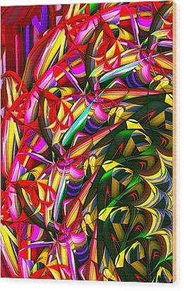 Iris Wheel Wood Print by Phill Clarkson