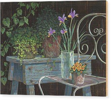 Irises Wood Print by Michael Humphries