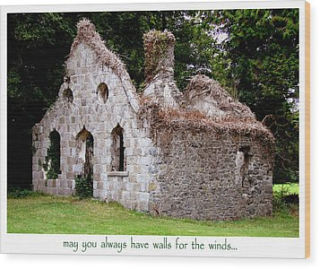 Irish Blessing Wood Print