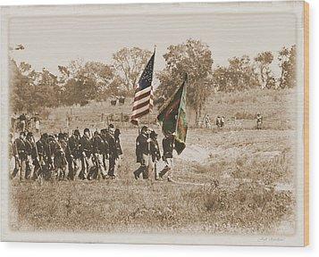 Wood Print featuring the photograph Irish Brigade by Judi Quelland