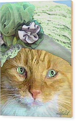 Irish Cat Wood Print by Michele Avanti