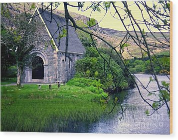 Irish Chapel Wood Print by Ranjini Kandasamy