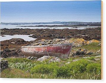 Wood Print featuring the photograph Irish Coast Impression by Juergen Klust