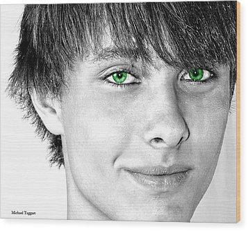 Irish Eyes Wood Print by Michael Taggart