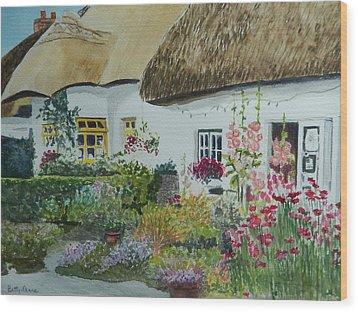 Irish Garden Wood Print by Betty-Anne McDonald