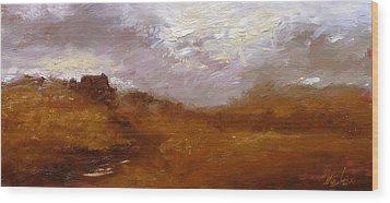 Irish Landscape II Wood Print by John Silver