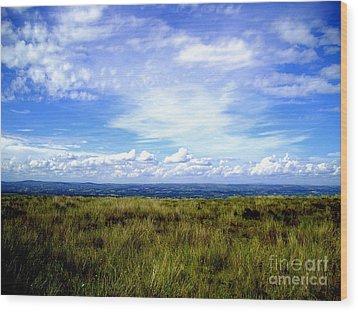 Irish Sky Wood Print by Nina Ficur Feenan