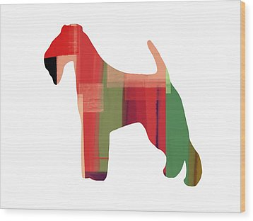 Irish Terrier Wood Print by Naxart Studio
