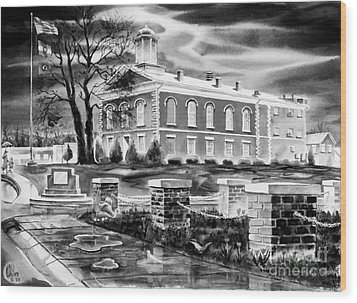 Iron County Courthouse IIi - Bw Wood Print by Kip DeVore