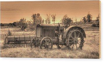 Iron Workhorse Wood Print by Aliceann Carlton