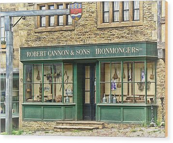 Ironmongers In Candleford Wood Print by Paul Gulliver