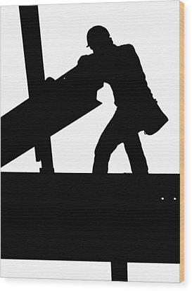 Ironworker 1 Wood Print