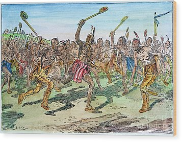 Iroquois - Lacrosse.  Wood Print by Granger