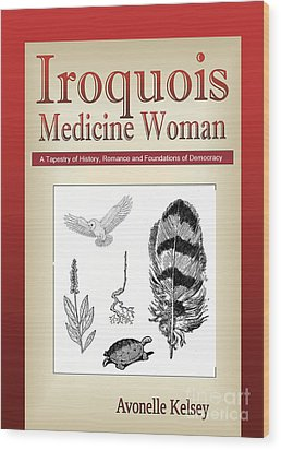 Iroquois Cover Art Wood Print by Nola Lee Kelsey