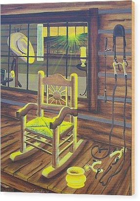 Is Grandpaw Home? Wood Print