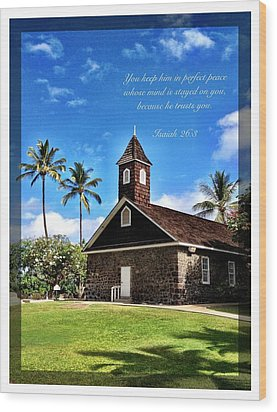 Isaiah 26 8 Wood Print