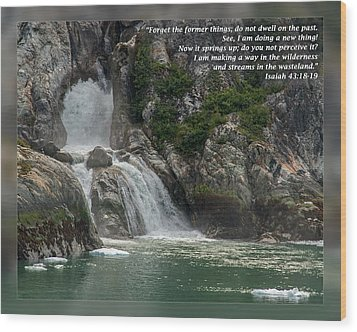 Isaiah 43 18-19 Wood Print