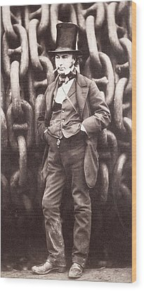 Isambard Kingdom Brunel  Wood Print by Robert Howlett