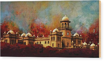 Islamia College Lahore Wood Print by Catf