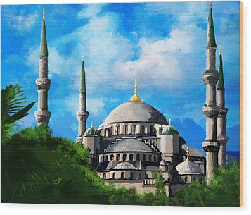 Islamic Mosque Wood Print by Catf
