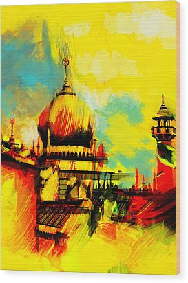 Islamic Painting 001 Wood Print by Catf