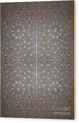 Islamic Wooden Texture Wood Print