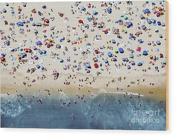 Island Beach State Park Wood Print by Mike Raabe