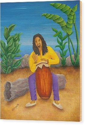 Island Beat Wood Print by Pamela Allegretto