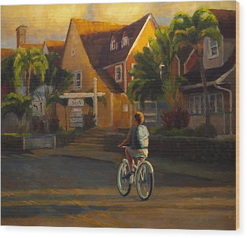 Island Commute Wood Print by Jeanne Young