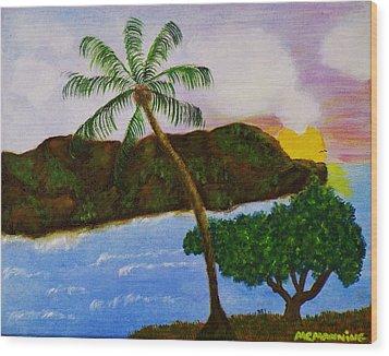 Island Escape Wood Print