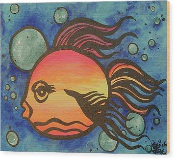 Island Fish Wood Print by Lorinda Fore
