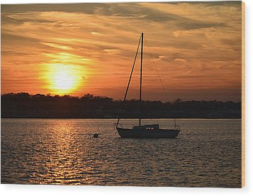 Wood Print featuring the photograph Island Heights Sunset by Brian Hughes