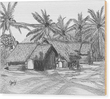 Island House 13 Wood Print by Lew Davis