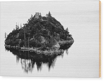 Island In A Lake Wood Print