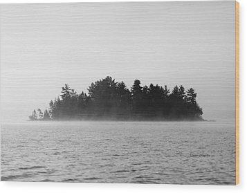 Island In The Mist Wood Print