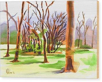 Island In The Wood Wood Print by Kip DeVore