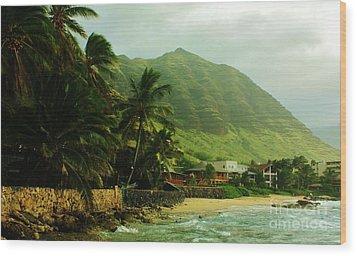 Island Living Wood Print