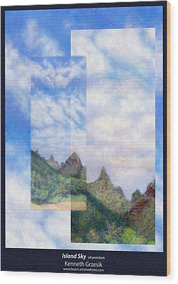 Island Sky Details Wood Print by Kenneth Grzesik
